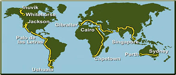 Six Continents Quest Bicycle Expedition And Program - Six continents of the world